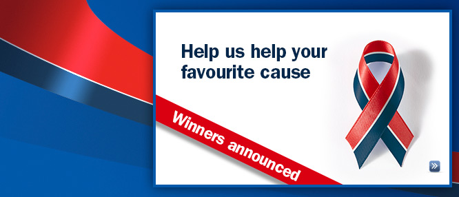 Help us help your favourite cause - Winners announced